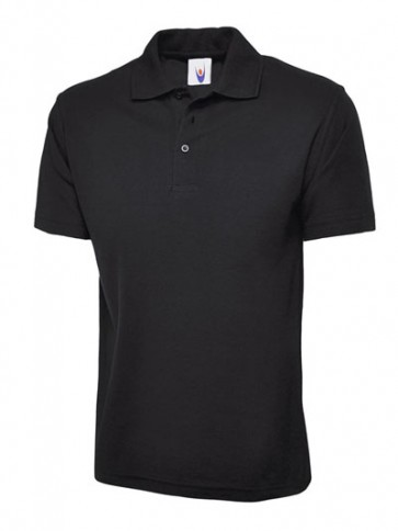 10 x UC124 Black Polo Shirts Any Size