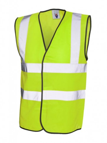 50 x UC801 Yellow Hi Vis Vests Any Size