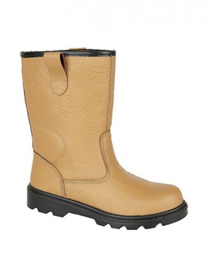 Grafters Tan Leather Rigger Safety Boots