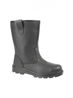 Grafters Black Leather Lined Safety Rigger Boots