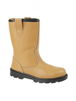 Grafters Tan Leather Lined Safety Rigger Boots