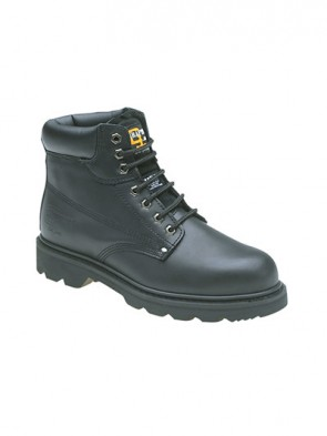 Goodyear Welted Safety Toe Cap Laced Black Leather