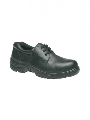 Grafters Black Grain Leather Steel Toe Cap Safety Shoes