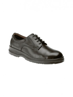 Grafters Black Smooth Leather Safety Steel Toe Cap & Steel Midsole Shoes