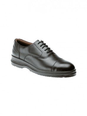 Grafters Uniform Black Smooth Leather Safety Steel Toe Cap & Steel Midsole Shoes