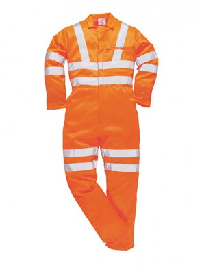 PortWest Hi-Vis Polo Polly-Cotton Coverall