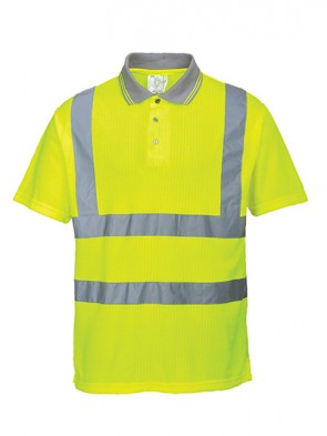 Portwest Hi-Vis Ribbed Polo Shirt