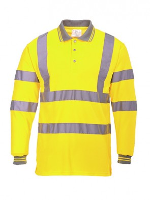 Portwest Hi-Vis Long Sleeved Polo