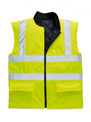 Portwest Hi-Vis Reversible Bodywarmer
