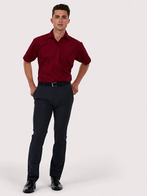 Mens Poplin Half Sleeve Shirt
