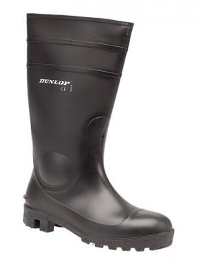 Dunlop Black Protomastor Full Safety Wellington Boots