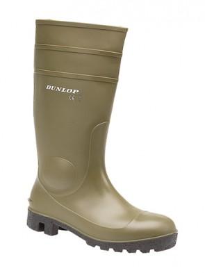 Dunlop Green Protomastor Full Safety Wellington Boots